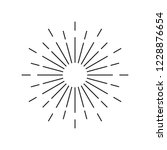 sunburst line icon | Shutterstock .eps vector #1228876654