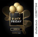 black friday banner poster with ...   Shutterstock .eps vector #1228877344