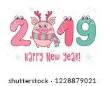 cute card design with cartoon...   Shutterstock .eps vector #1228879021
