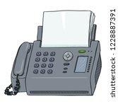 vector cartoon fax machine.... | Shutterstock .eps vector #1228887391