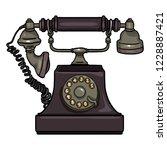 vector cartoon purple old... | Shutterstock .eps vector #1228887421