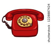 vector cartoon classic red...   Shutterstock .eps vector #1228887424