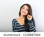 beautiful positive young casual ...   Shutterstock . vector #1228887664