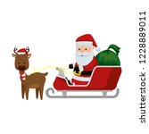 christmas santa claus with...   Shutterstock .eps vector #1228889011