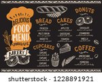 bakery menu template for... | Shutterstock .eps vector #1228891921