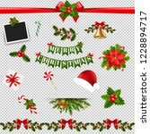 xmas big collection transparent ... | Shutterstock . vector #1228894717