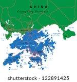hong kong map | Shutterstock .eps vector #122891425