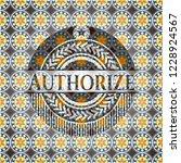 authorize arabic style emblem.... | Shutterstock .eps vector #1228924567