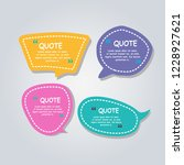 modern dialog speech bubble set ... | Shutterstock .eps vector #1228927621