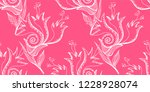 flower doodles seamless pattern.... | Shutterstock .eps vector #1228928074