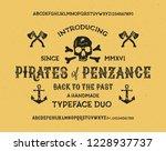 retro styled modern fonts.... | Shutterstock .eps vector #1228937737