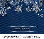 blue merry christmas and happy... | Shutterstock .eps vector #1228945417