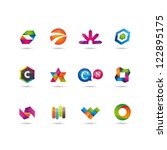 set of icons | Shutterstock .eps vector #122895175