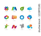 set of web icons | Shutterstock .eps vector #122895181