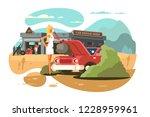 car repair service... | Shutterstock .eps vector #1228959961