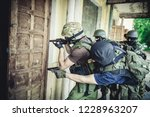 training of special forces | Shutterstock . vector #1228963207
