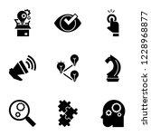 solution icon set. simple set...