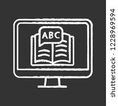 online language learning chalk... | Shutterstock .eps vector #1228969594