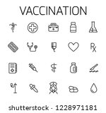 vaccination related vector icon ... | Shutterstock .eps vector #1228971181