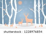 hello winter design background  ... | Shutterstock .eps vector #1228976854