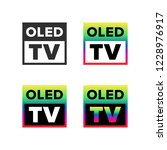 oled tv symbol | Shutterstock .eps vector #1228976917