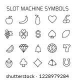 slot machine symbols related... | Shutterstock .eps vector #1228979284