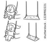 vector set of kid swing | Shutterstock .eps vector #1228982221