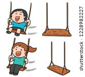 vector set of kid swing | Shutterstock .eps vector #1228982227