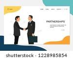 partnership concept landing... | Shutterstock .eps vector #1228985854