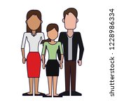 parents with daughter   Shutterstock .eps vector #1228986334