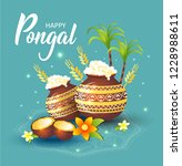illustration of happy pongal... | Shutterstock .eps vector #1228988611
