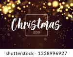 christmas background 2019 with... | Shutterstock .eps vector #1228996927