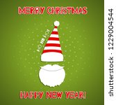 christmas background with santa ... | Shutterstock .eps vector #1229004544