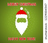 christmas background with santa ... | Shutterstock .eps vector #1229004547