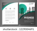 annual report brochure flyer... | Shutterstock .eps vector #1229004691