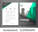 annual report brochure flyer... | Shutterstock .eps vector #1229004694