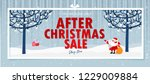 after christmas sale banner.... | Shutterstock .eps vector #1229009884