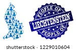 people collage of blue... | Shutterstock .eps vector #1229010604