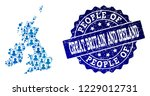 people combination of blue... | Shutterstock .eps vector #1229012731