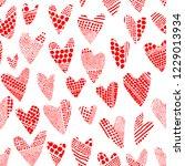 valentine's day seamless...   Shutterstock .eps vector #1229013934