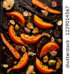 baked vegetables with the... | Shutterstock . vector #1229014567