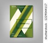 brochures book or flyer with... | Shutterstock .eps vector #1229044117