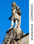 a statue of king charles ii on... | Shutterstock . vector #1229045221
