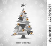 christmas card with abstract... | Shutterstock .eps vector #1229046094