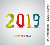 new year card with abstract... | Shutterstock .eps vector #1229046964