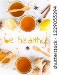 be healthy   written from... | Shutterstock . vector #1229055394