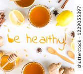 be healthy   written from... | Shutterstock . vector #1229055397