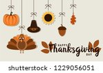 thanksgiving greeting card or... | Shutterstock .eps vector #1229056051
