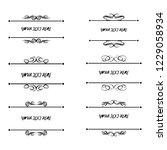 set of vector vintage frames on ... | Shutterstock .eps vector #1229058934