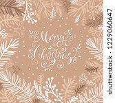 merry christmas. handwriting... | Shutterstock .eps vector #1229060647